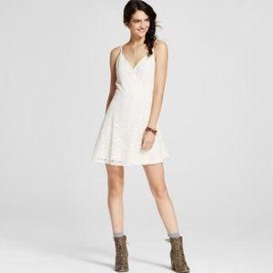 Mossimo XXL White Floral Lace Boho Skater Dress